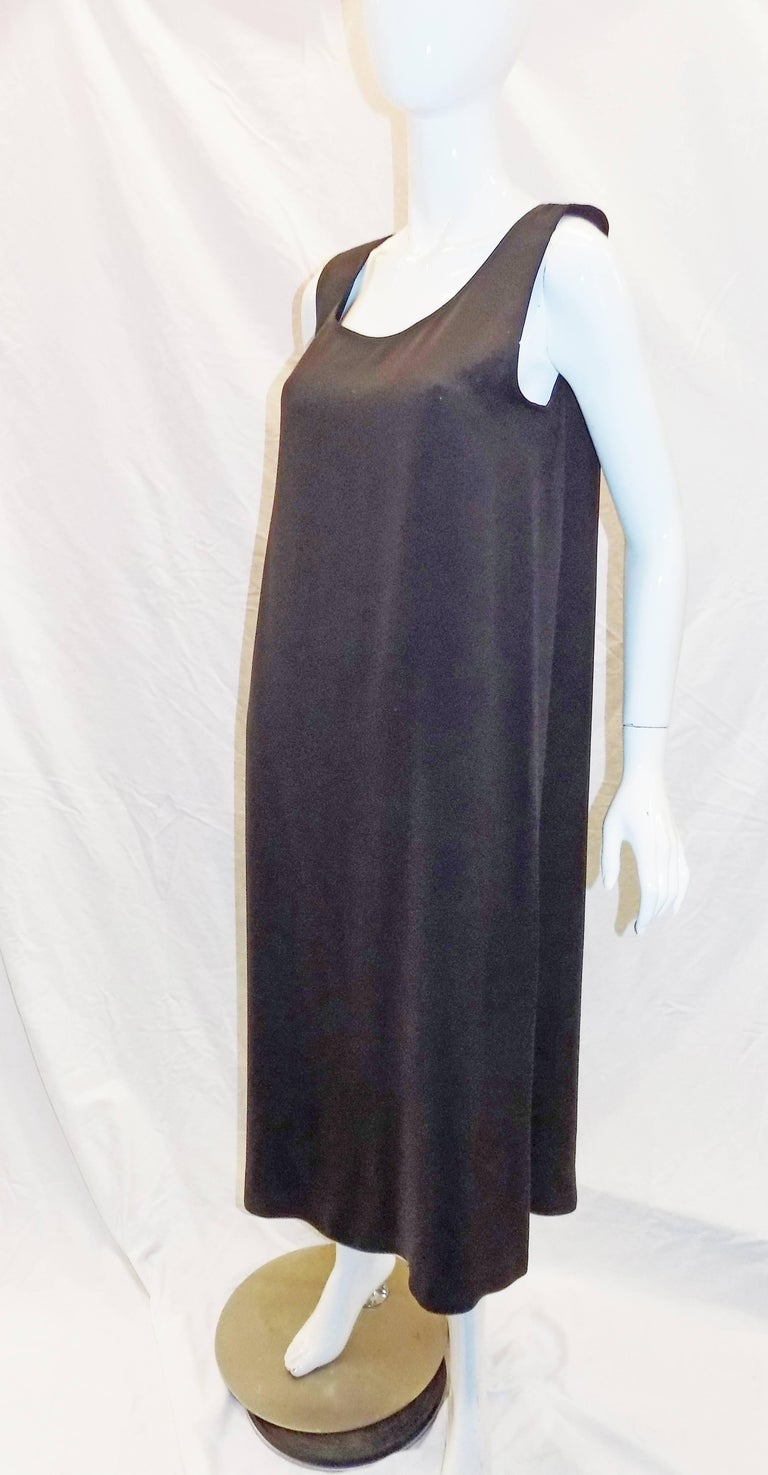 Perfect and easy to wear basic silk  Zoran brown silk sleeveless long  dress . New never worn.  Bust 42