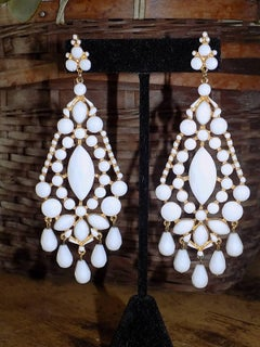 Spectacular vintage Ben Amun chandelier earrings