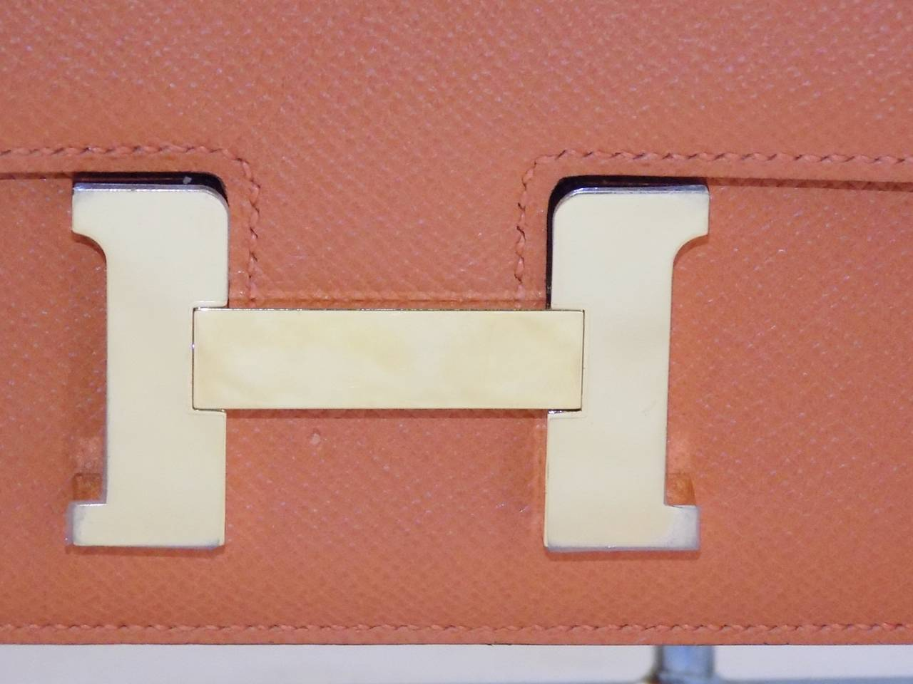 inexpensive leather purses - Hermes Constance Elan Swift Leather Bag in orange color. NEW! at ...