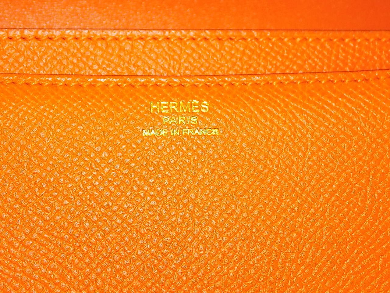 hermes orange swift leather constance elan
