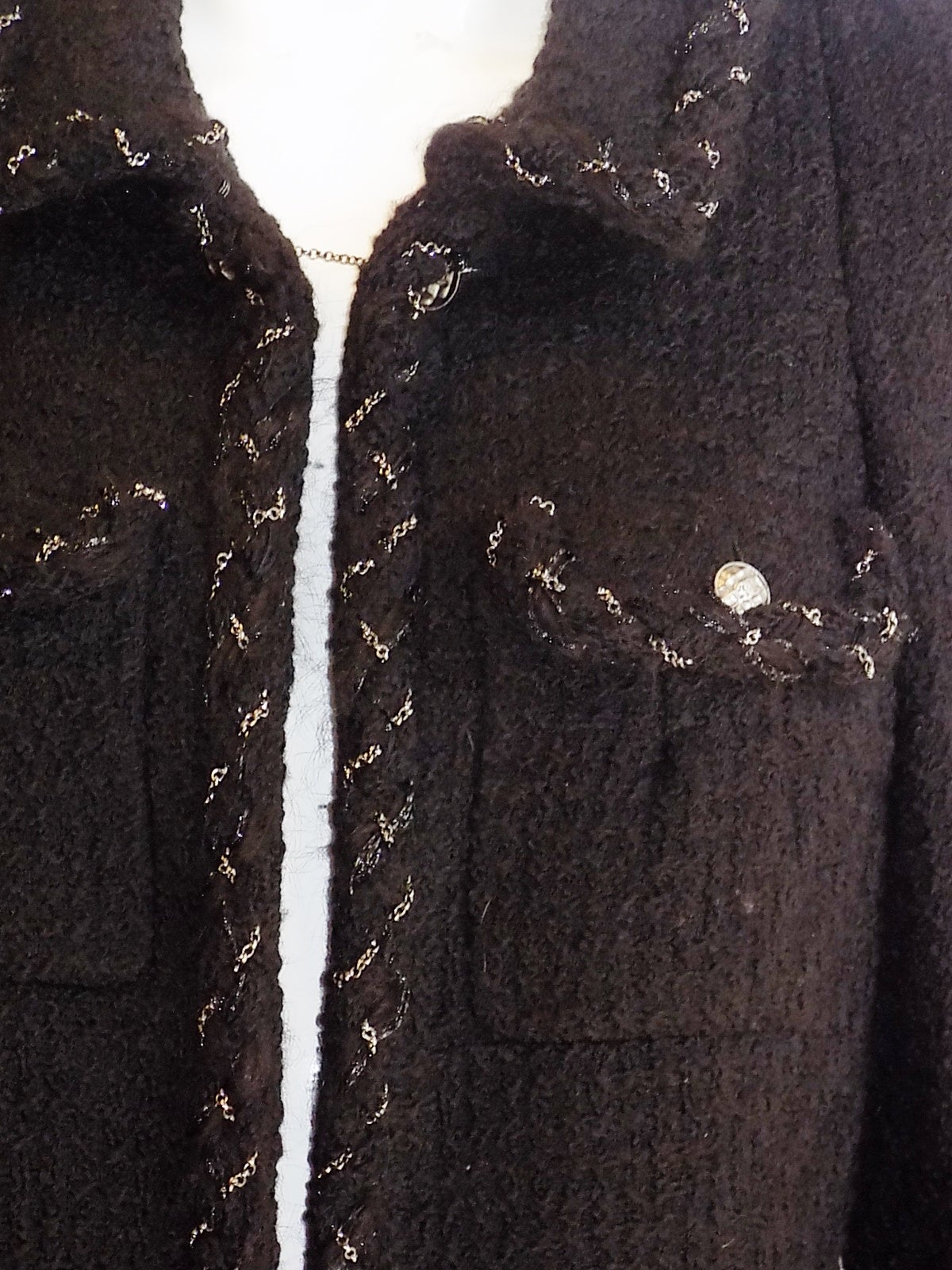 Chanel Most coveted black jacket with metal braids details 2