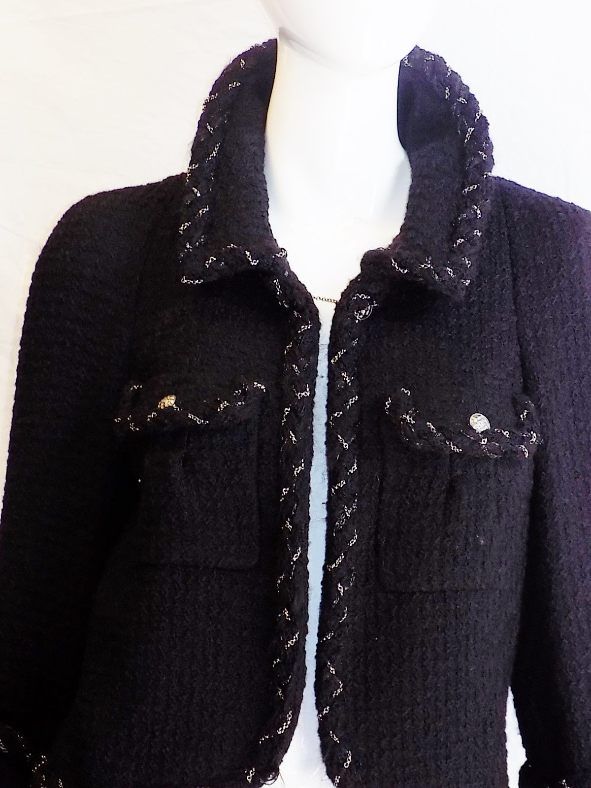 Chanel Most coveted black jacket with metal braids details 6