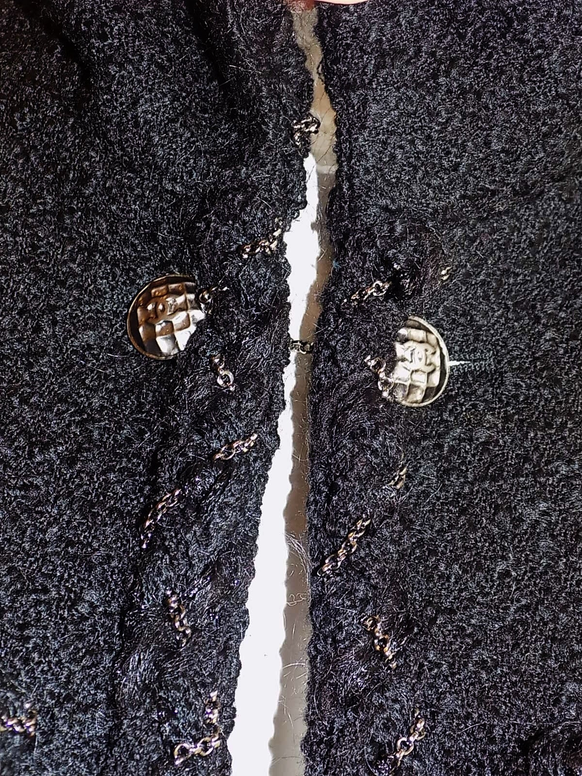 Chanel Most coveted black jacket with metal braids details 7