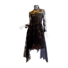 1980 Breathtatking Bill Blass Lace Dress   Rare and Collectable !