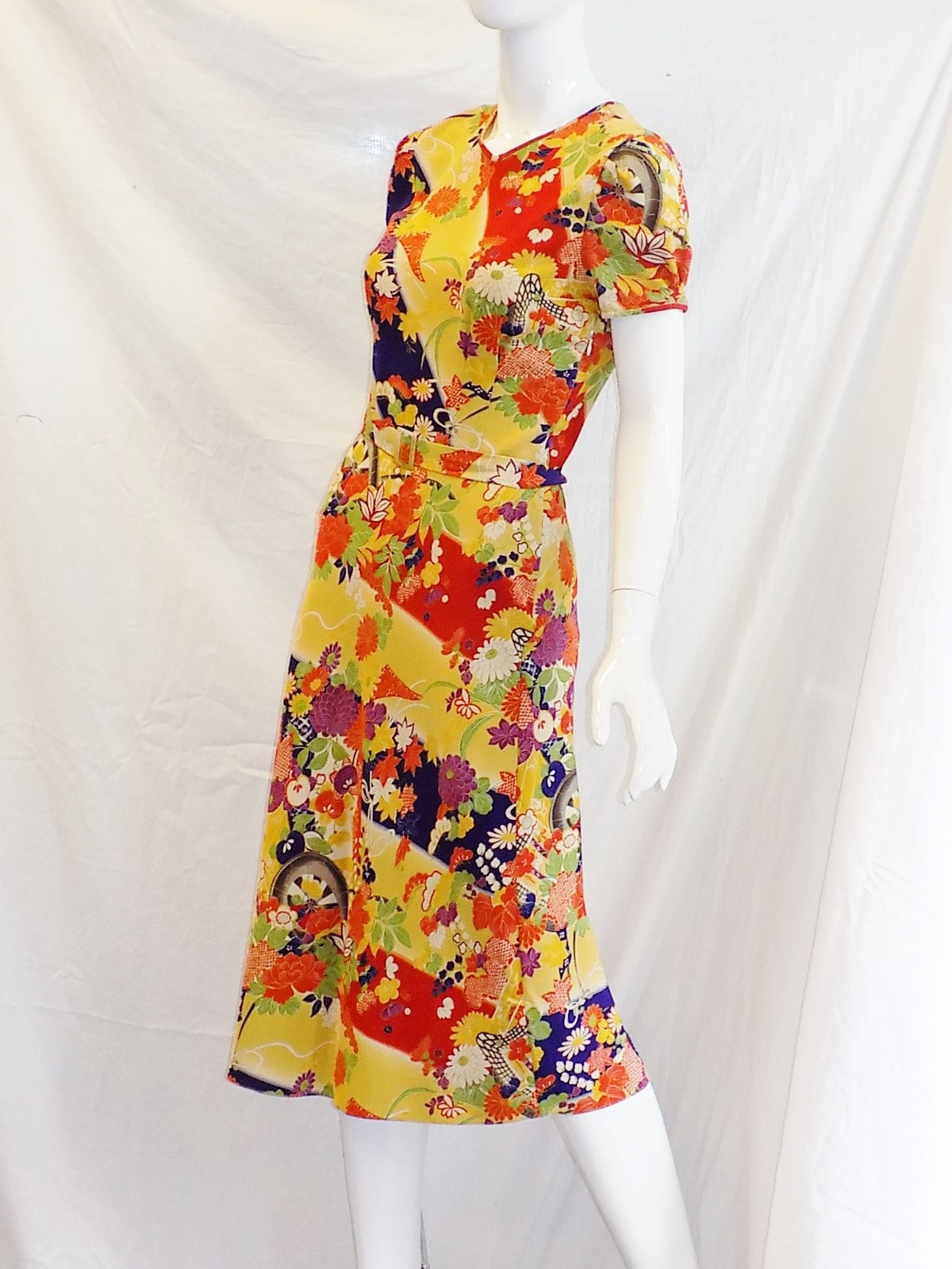 New With Tags Ralph Lauren Silk Floral Dress At 1stdibs