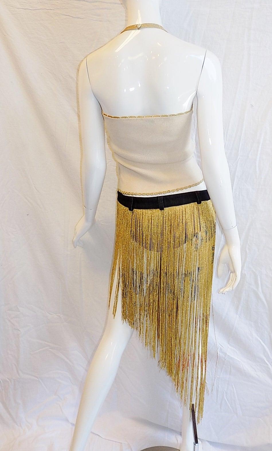 Dolce and Gabbana Metallic fringe Burlesque skirt and top ...