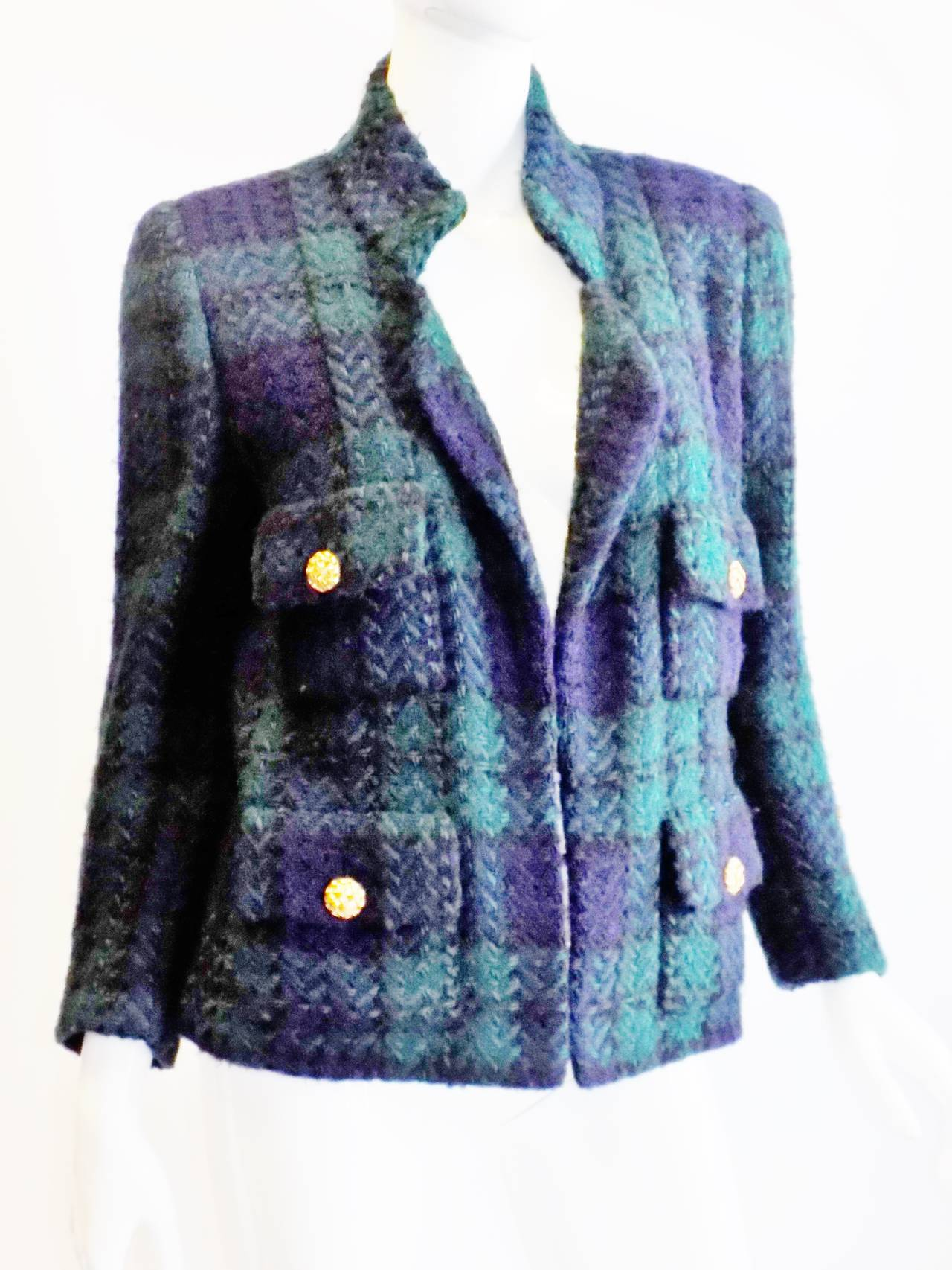 Chanel vintage haute couture short coat jacket at 1stdibs for Haute couture jacket