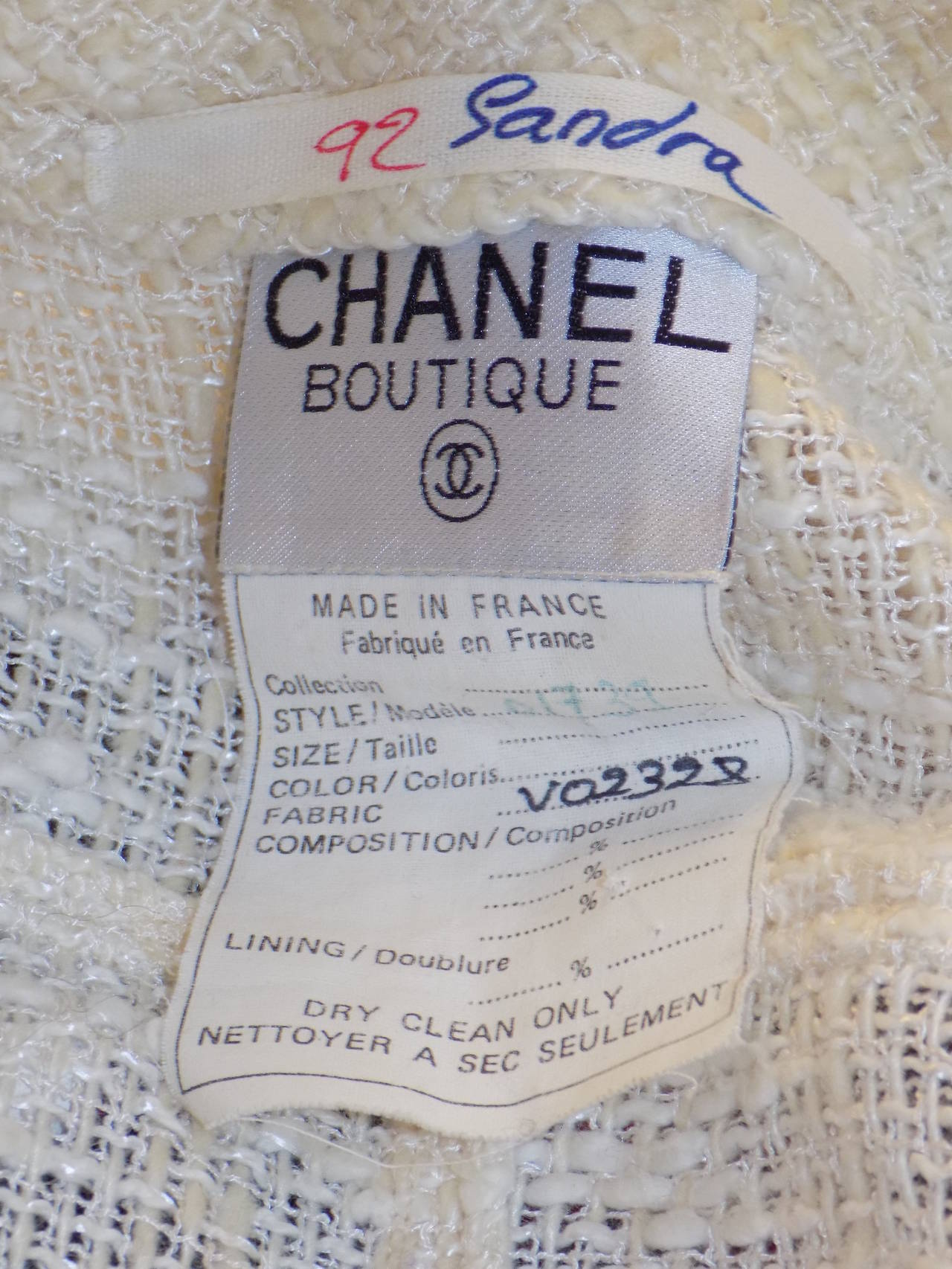Chanel catwalk vintage winter white  coat dress duster 7