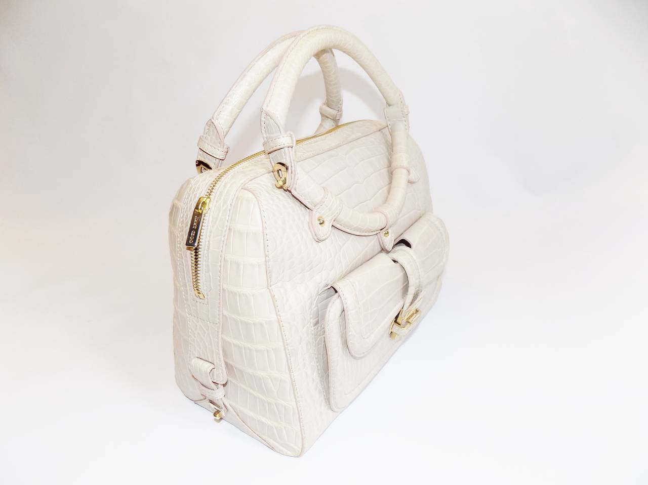 Jimmy Choo Ultimate Alligator Blush color top handle bag -purse  3