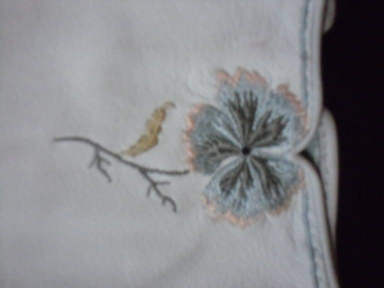Gray Hermes Vintage Embroidered Gloves 1961 For Sale