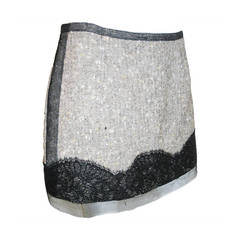 Rochas tweed and sequin lace  mini skirt