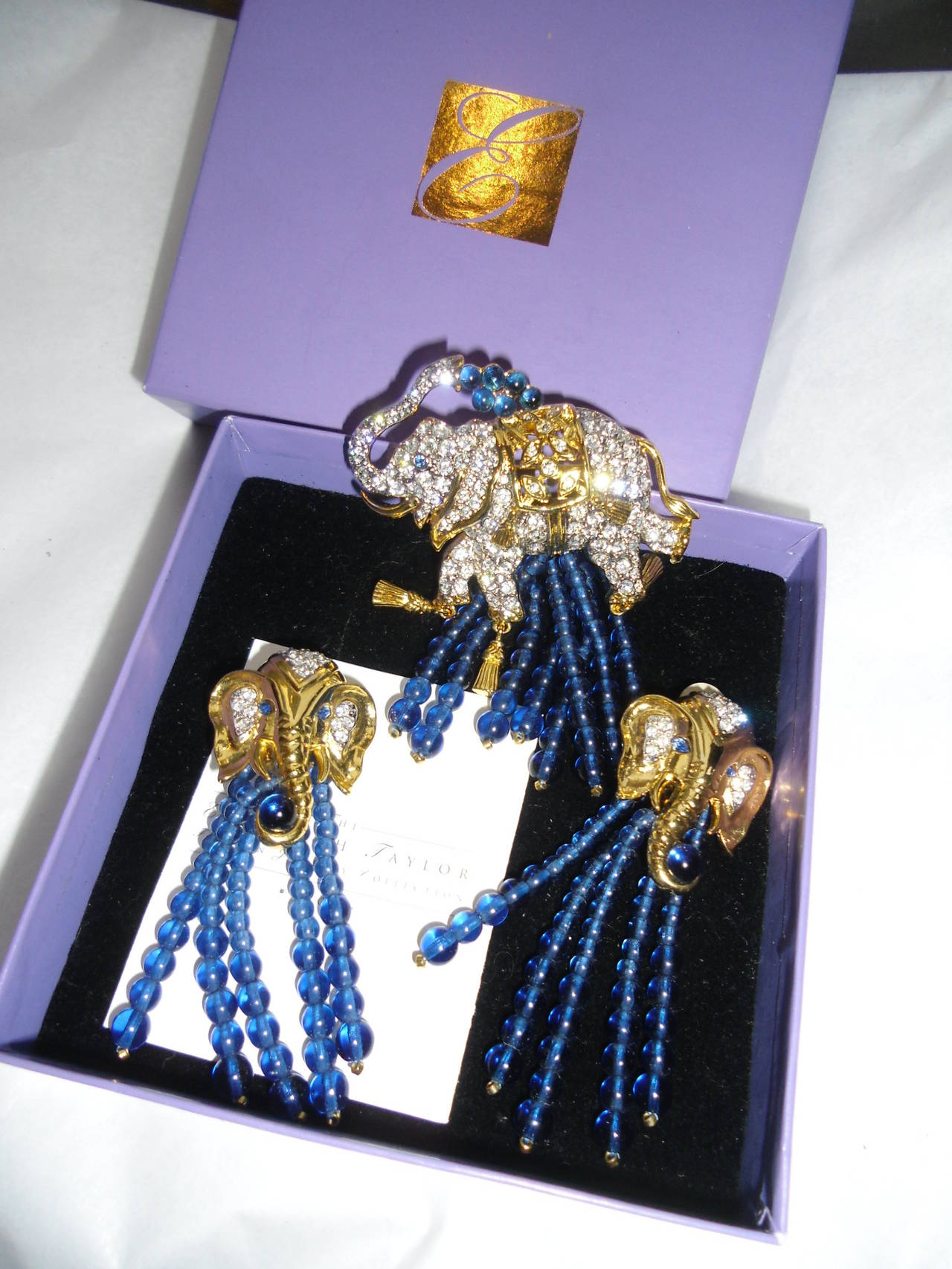 Elizabeth Taylor For Quot Avon Quot Elephant Walk Earrings And Pin