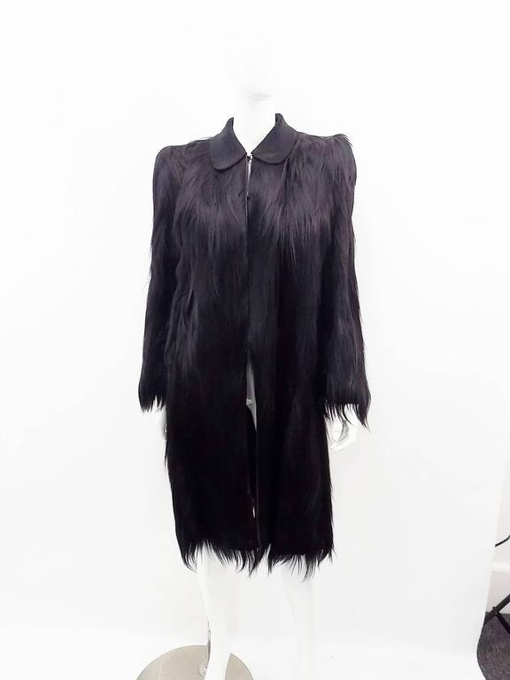 pristine vintage 1930 s black bencha gold coast monkey fur