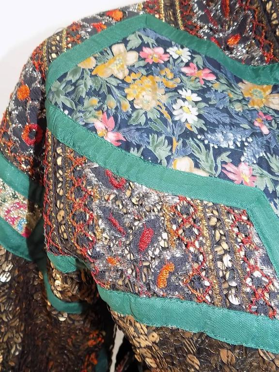 Koos Van Den Akker rare evening sequin gold brocade smoking jacket coat 8