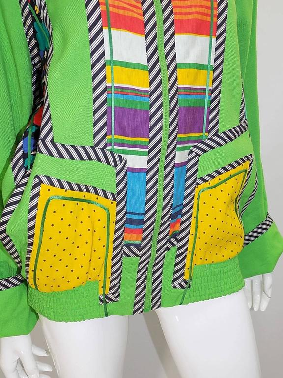 Koos Van Den Akker Vintage linen color block summer jacket  Fabulous! 5