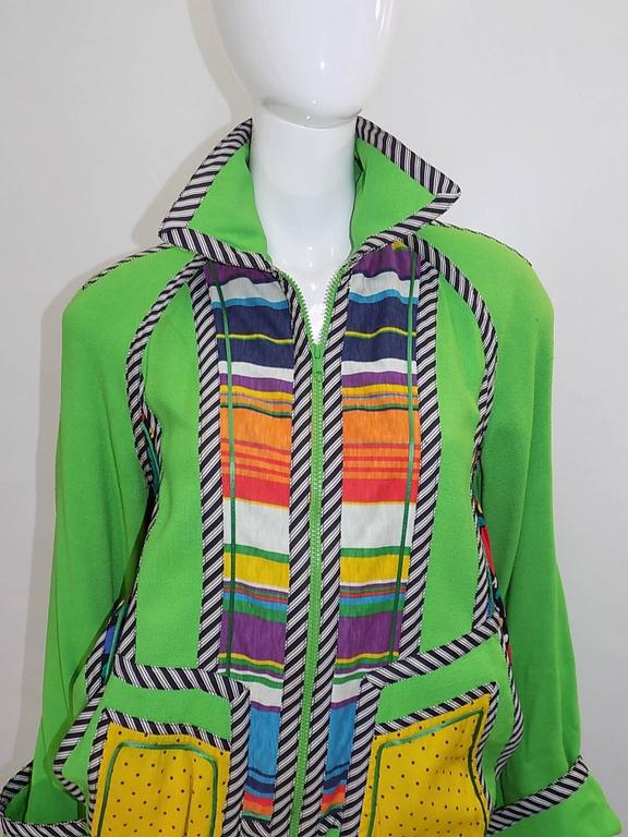 Koos Van Den Akker Vintage linen color block summer jacket  Fabulous! 7