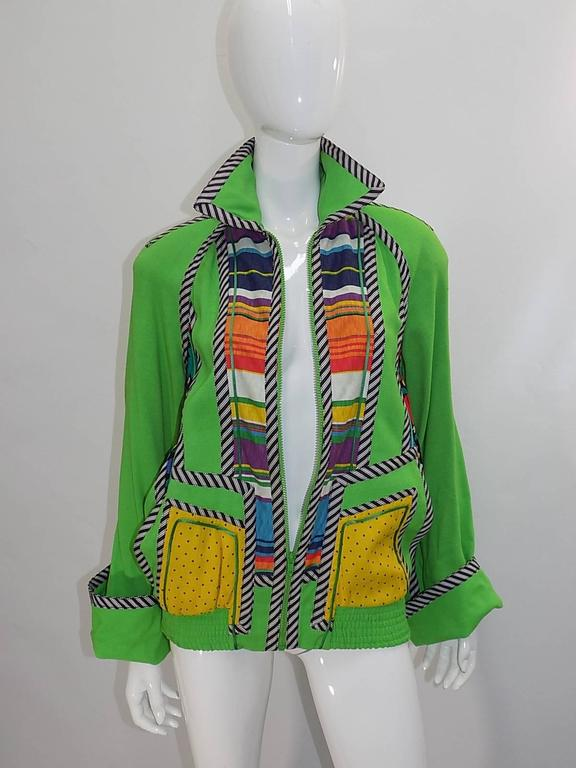 Koos Van Den Akker Vintage linen color block summer jacket  Fabulous! 6