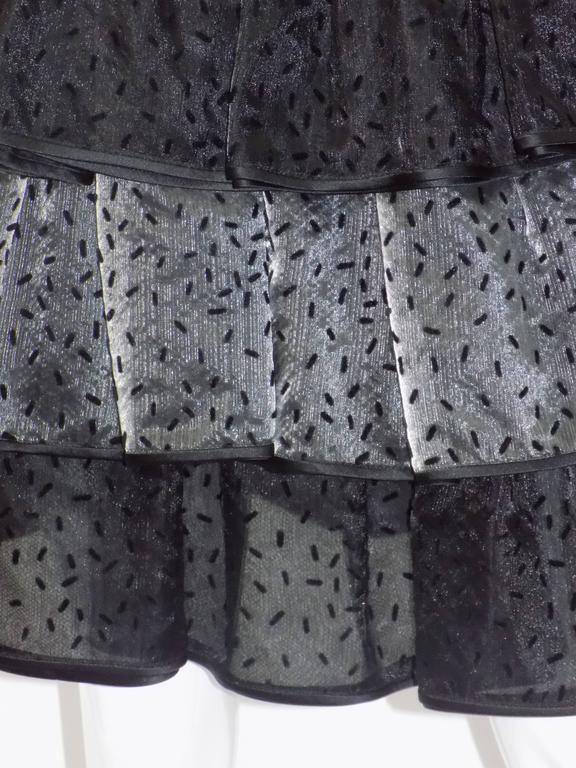 Valentino vintage ruffled evening skirt For Sale at 1stdibs