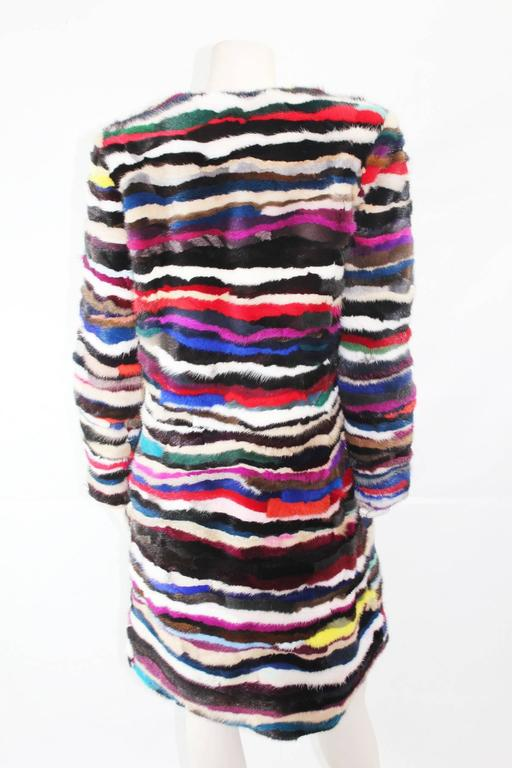 Richard Meyerson Multi color pieced mink fur coat. Hot for the season!! 5