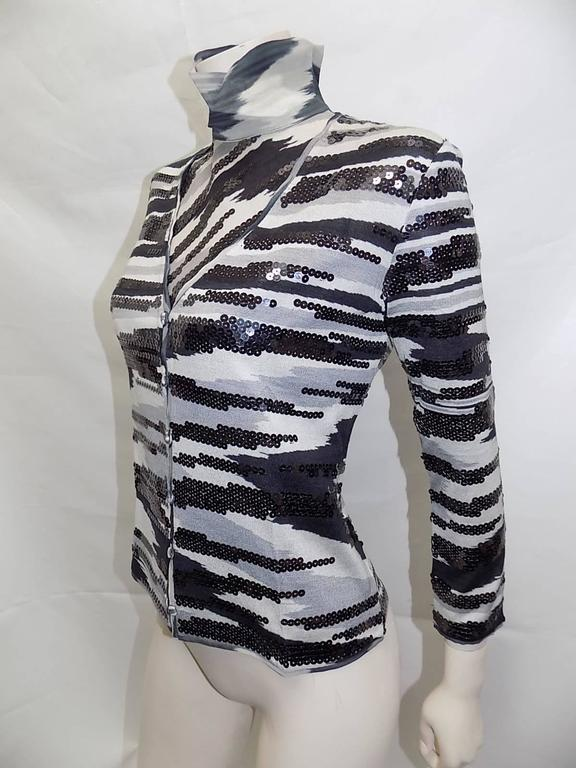 Black Missoni beaded  silk knit sweater set For Sale