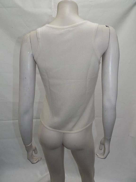 Chanel  Cashmere Ivory - black sweater set cardigan and top  For Sale 1