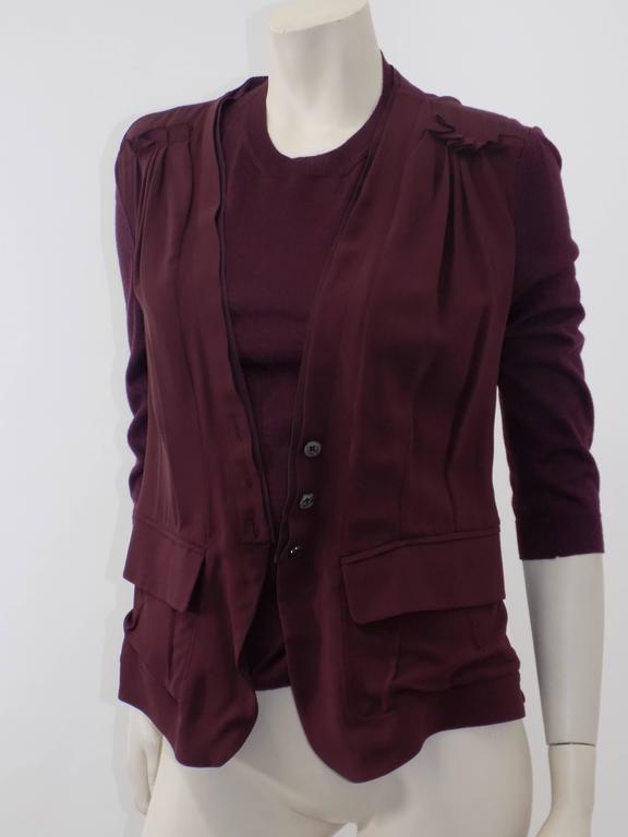 Nina Ricci silk and cashmere sweater set jaket/ top                            4