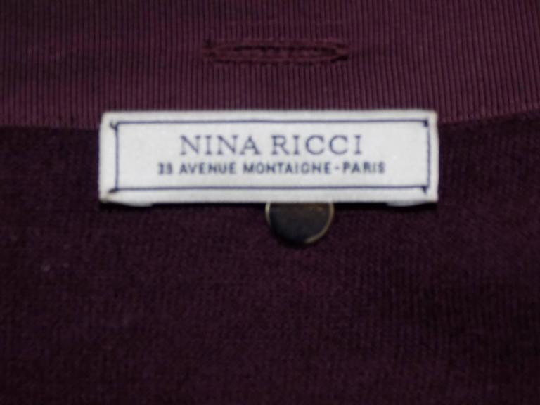 Nina Ricci silk and cashmere sweater set jaket/ top                            6