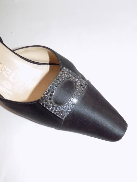 Chanel Slingback Evening Shoe With Crystals 3