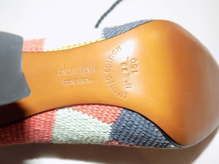 Iconic Salvatore Ferragamo limited Museum  edition crochet  oxford shoes For Sale 2