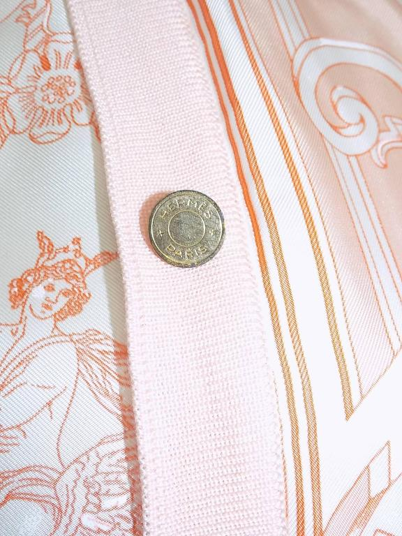 Vintage Hermes 'Les Tuileries' 2pc Sweater Set Cashemere/Silk For Sale 3