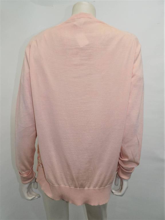 Vintage Hermes 'Les Tuileries' 2pc Sweater Set Cashemere/Silk For Sale 2