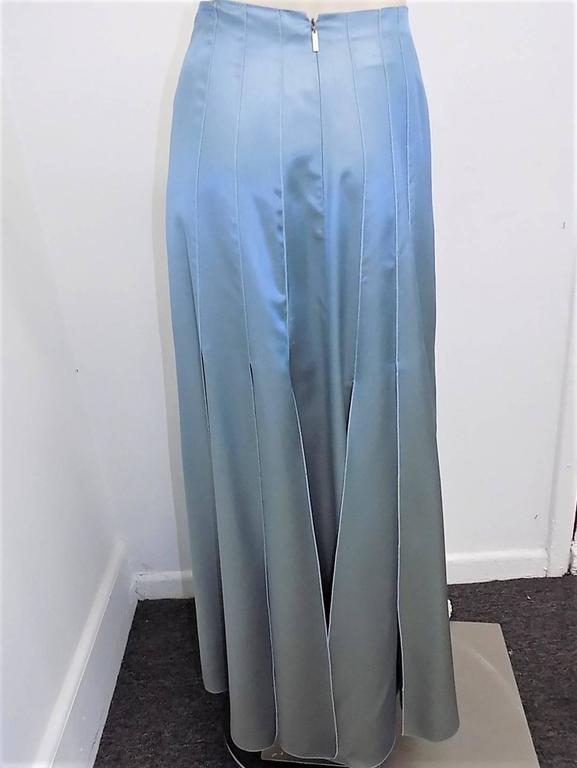 "Chanel lite blue long skirt  with accordion  ""carwash"" back  Collection  00C 3"