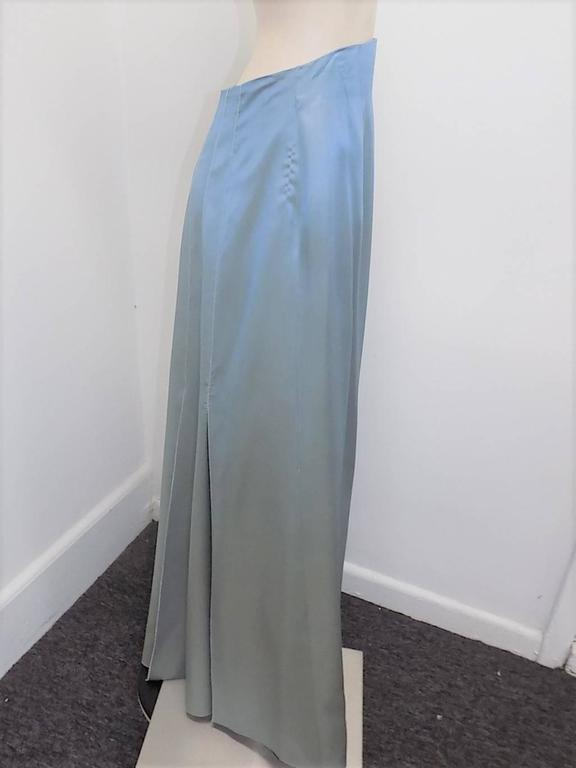 "Chanel lite blue long skirt  with accordion  ""carwash"" back  Collection  00C 4"