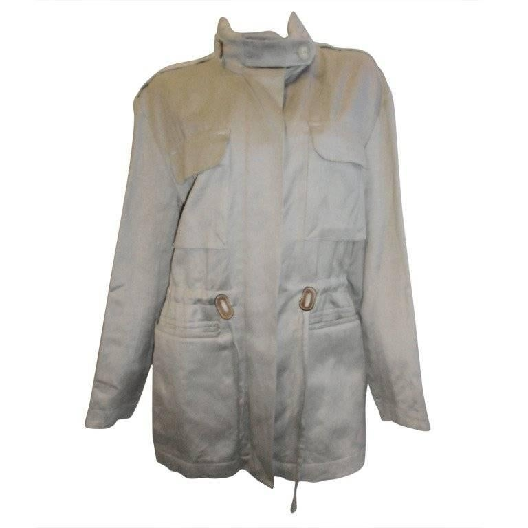 Hermes Hooded Safari Jacket with leather details