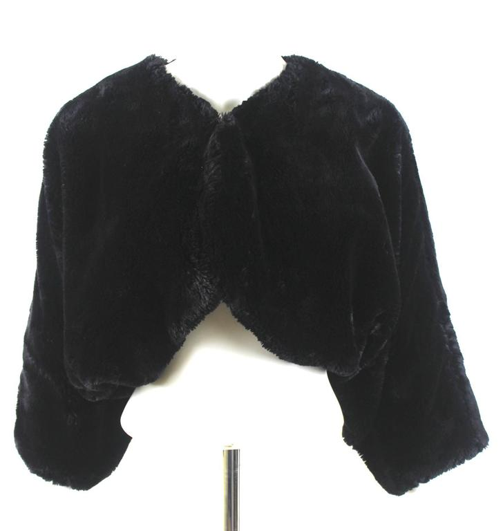 comme des garcons vintage faux fur bolero jacket for sale at 1stdibs. Black Bedroom Furniture Sets. Home Design Ideas