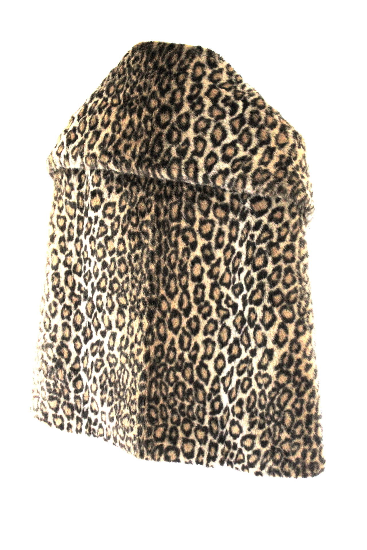 Women's Junya Watanabe for CDG AD 2000 Faux Fur Leopard Cape For Sale