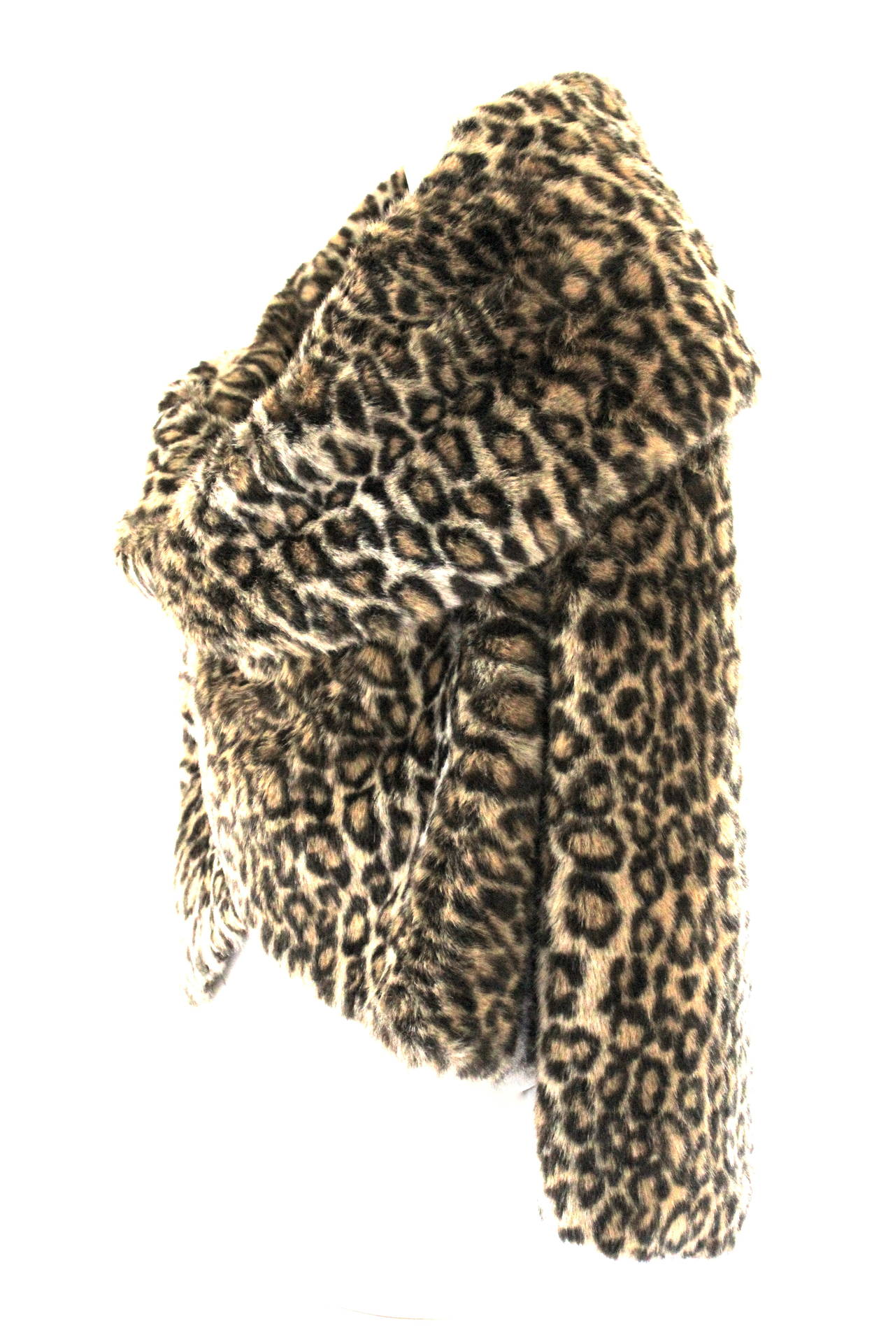 Junya Watanabe for CDG AD 2000 Faux Fur Leopard Cape For Sale 1