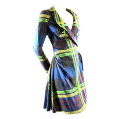 Vivienne Westwood A/W 1993/4 Metropolitan Tartan Runway Dress