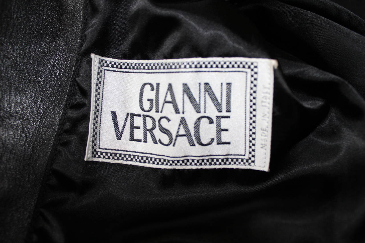 Gianni Versace Couture 1991 Madonna and Child Runway Leather Jacket 10