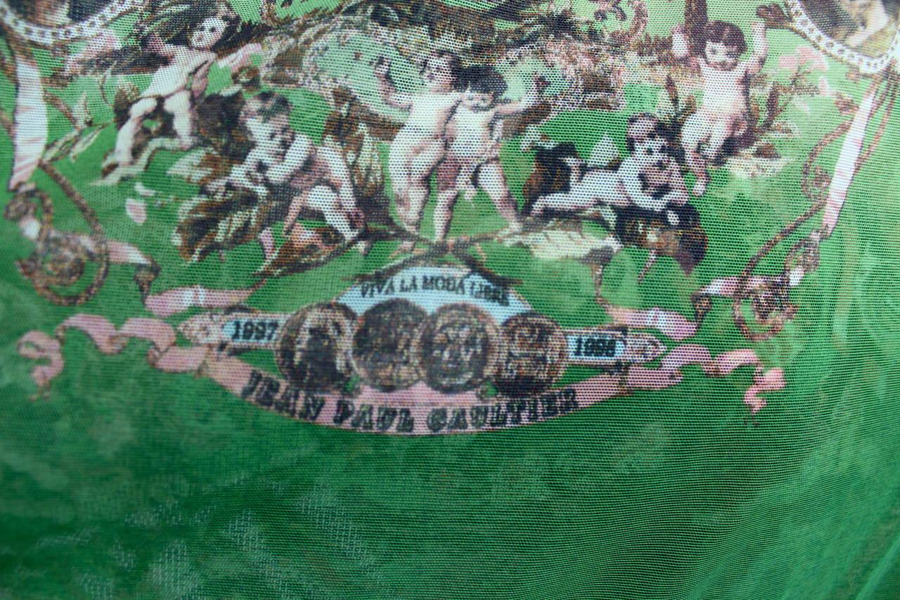 jean paul gaultier femme large fringed shawl 997 8 collection for sale at 1stdibs. Black Bedroom Furniture Sets. Home Design Ideas
