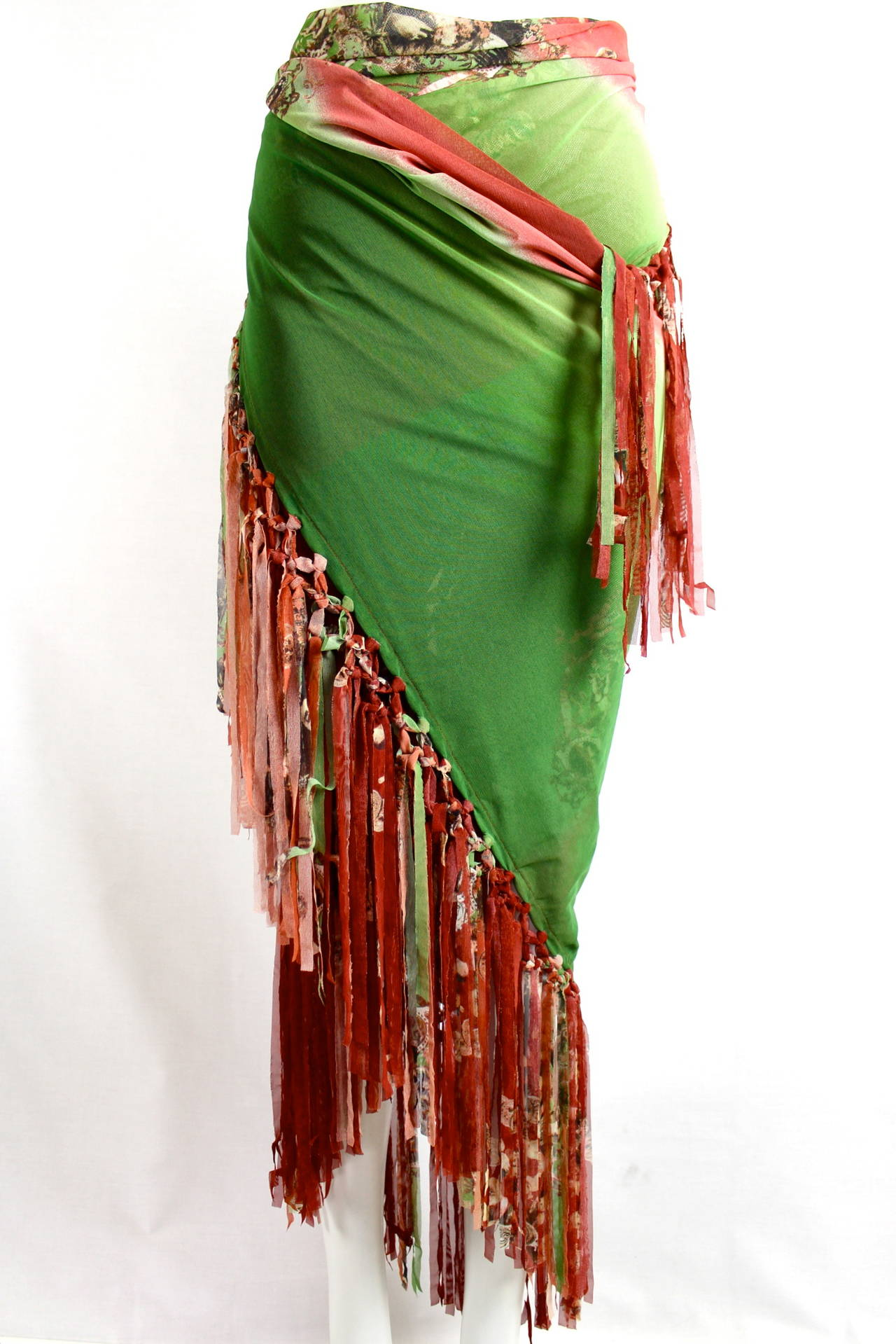 jean paul gaultier femme large fringed shawl 997 8 collection at 1stdibs. Black Bedroom Furniture Sets. Home Design Ideas
