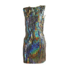 Paco Rabanne Holographic Runway Disc Dress