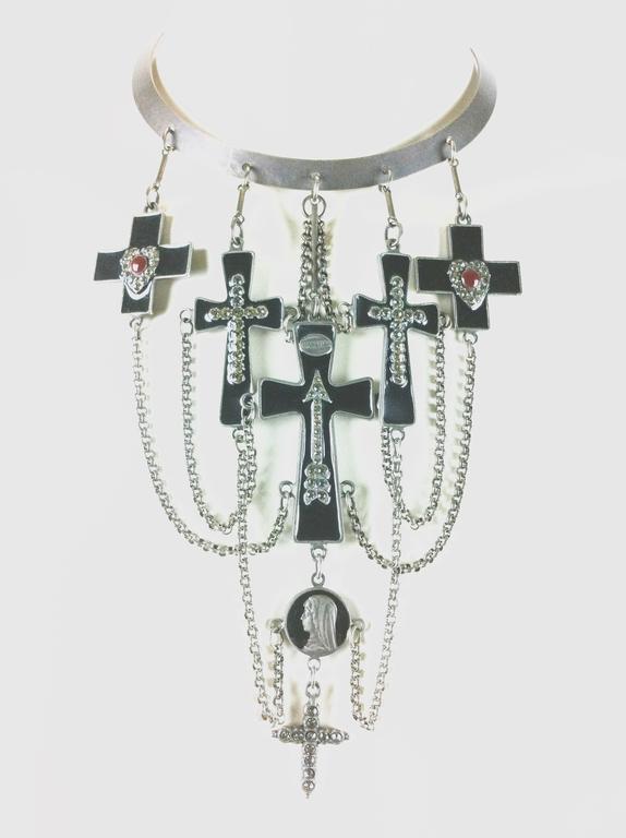 Jean Paul Gaultier Sacred Heart and Crosses Collar 2