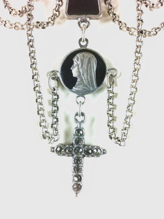 Jean Paul Gaultier Sacred Heart and Crosses Collar 3