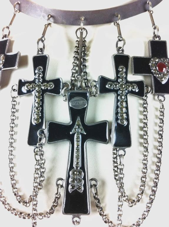 Jean Paul Gaultier Sacred Heart and Crosses Collar 4