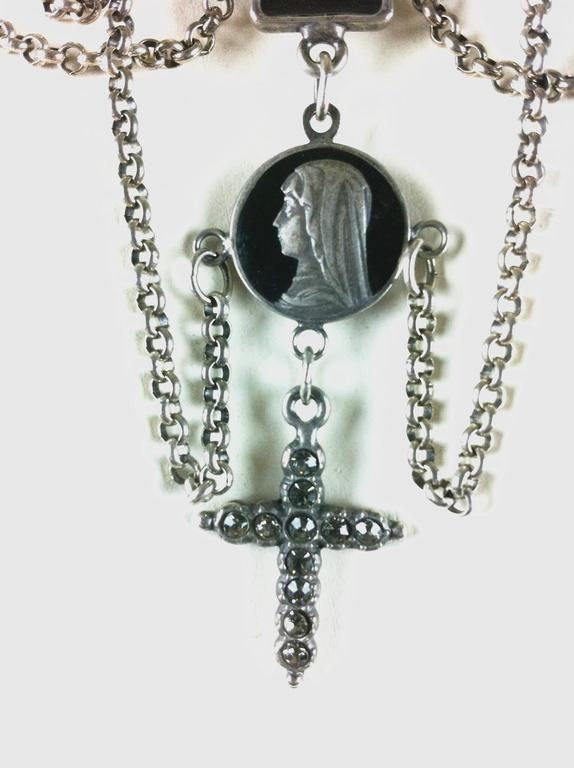 Jean Paul Gaultier Sacred Heart and Crosses Collar 6