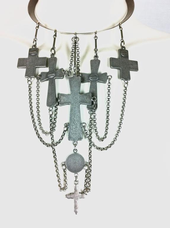 Jean Paul Gaultier Sacred Heart and Crosses Collar 9