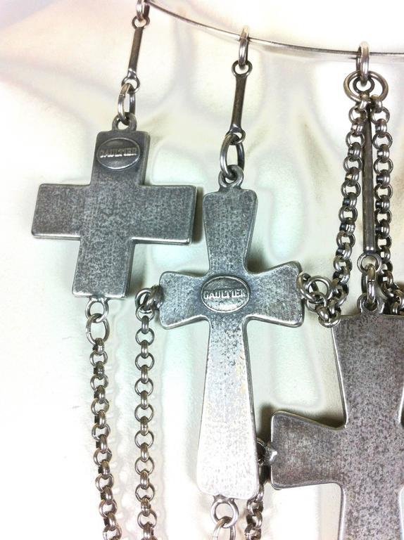 Jean Paul Gaultier Sacred Heart and Crosses Collar 10