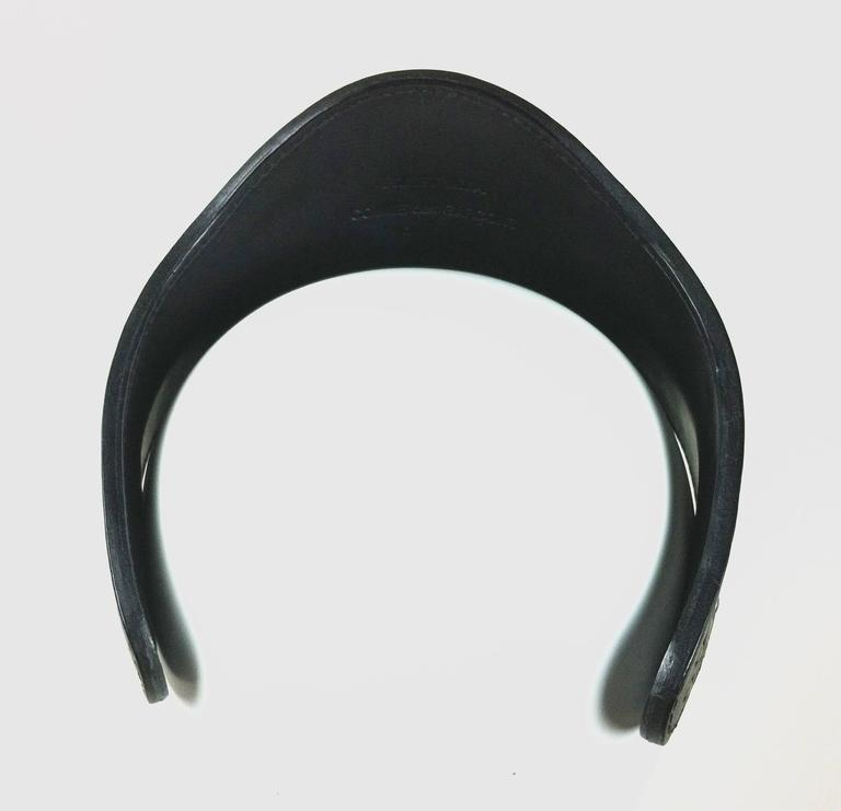 Comme des Garcons / Fleet Ilya AD 2013 Leather Studded Head Band For Sale 3