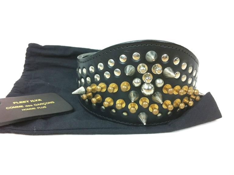 Comme des Garcons / Fleet Ilya AD 2013 Leather Studded Head Band For Sale 5